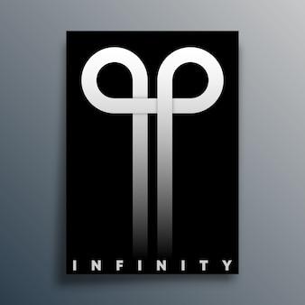 Symbol pętli nieskończoności dla plakatu, ulotki, okładki broszury, typografii lub innych produktów poligraficznych