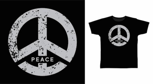 Symbol pokoju stylowy projekt koszulki
