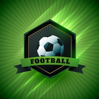 Symbol projektu etykiety piłki nożnej