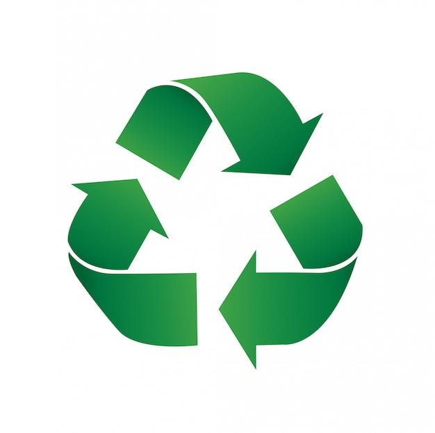 Symbol recyklingu ikona ilustracja wektorowa