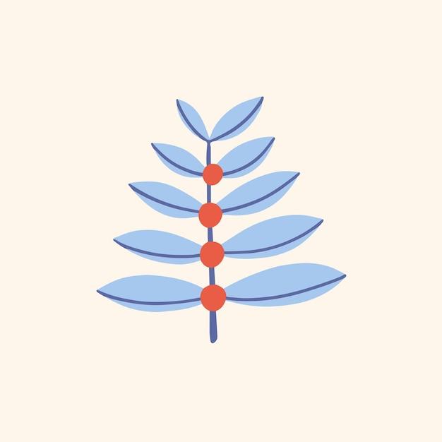 Symbol rośliny tropikalnej social media post botaniczna ilustracja wektorowa