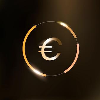 Symbol waluty pieniądze znak euro