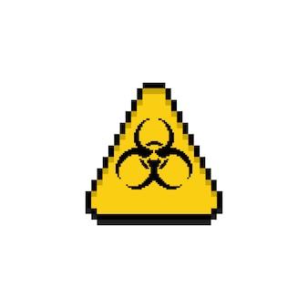 Symbol zagrożenia biologicznego sztuki pikseli.