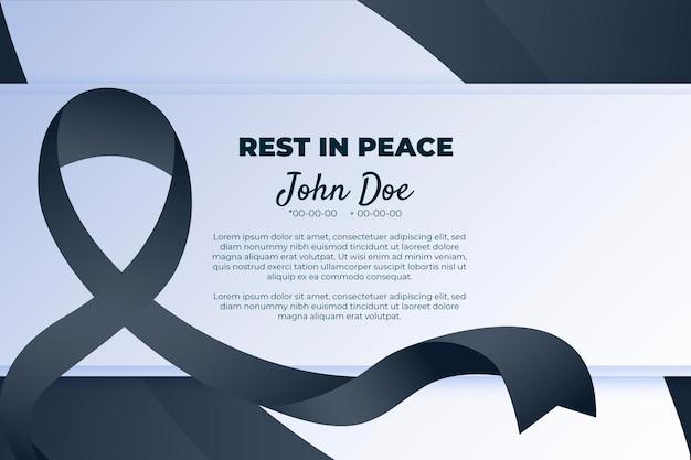 Symbol żałoby z czarną wstążką szacunku