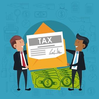 Symbole dnia podatkowego i kreskówki