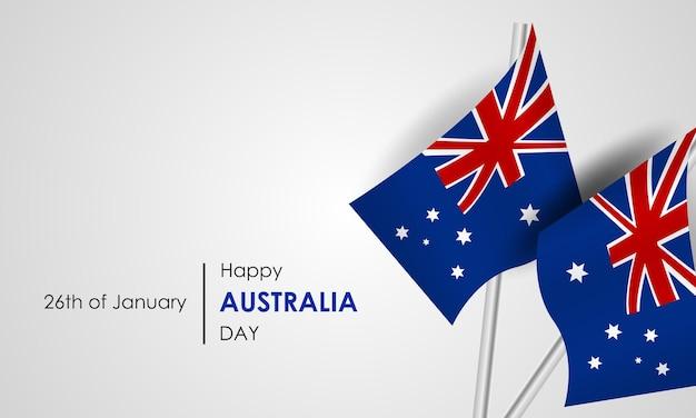 Symbole i flaga australii 26 stycznia dzień australii flagi balony i fajerwerki