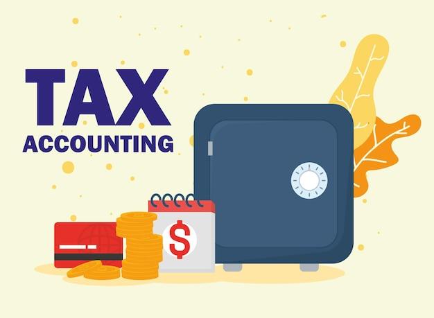 Symbole kasy pancernej i rozliczeń podatkowych