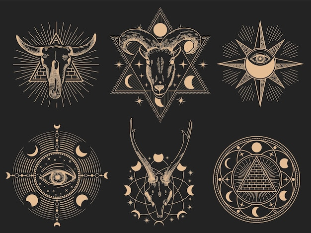 Symbole okultystyczne.