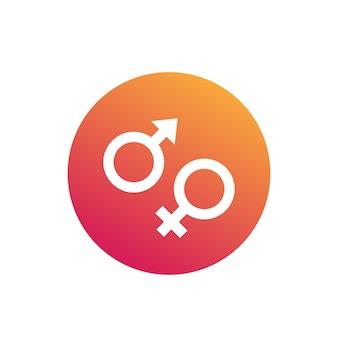 Symbole płci, ikony wektorowe