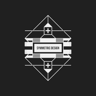Symetryczne wzornictwo na czarnym tle