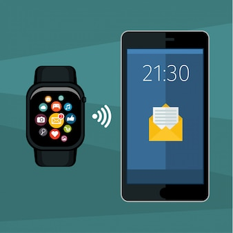 Synchronizacja między smartwatchem a smartfonem