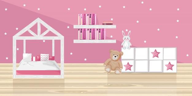 Sypialnia różowy dziewczyna