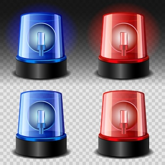 Syrena flasherowa czerwona i niebieska