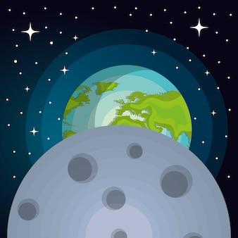 System astronomiczny planety słoneczne izolowane