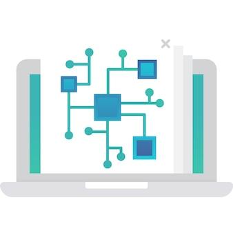 System plików ikona big data systematyzacja informacji