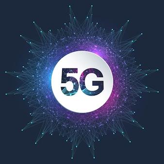 Systemy bezprzewodowe sieci 5g i ilustracja internetu