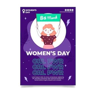 Szablon a5 międzynarodowego dnia kobiet