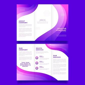 Szablon abstrakcyjnej broszury potrójnej