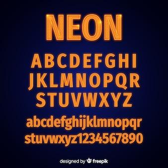 Szablon alfabetu neonowego