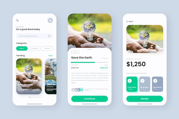 Szablon aplikacji do finansowania społecznościowego