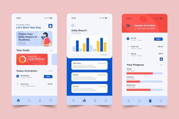 Szablon aplikacji do śledzenia celów i nawyków
