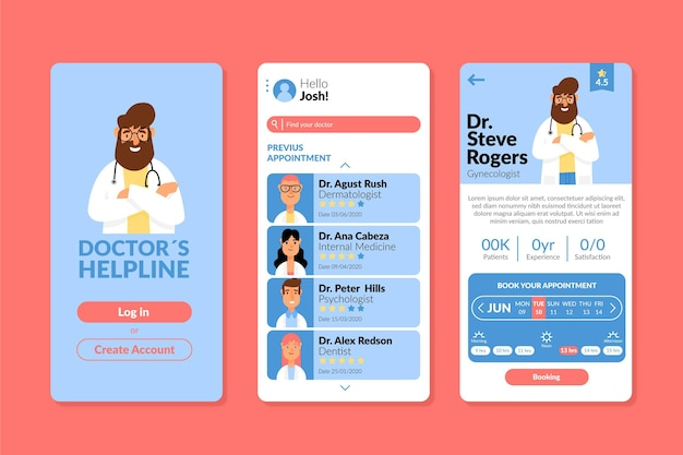 Szablon aplikacji rezerwacji medycznej