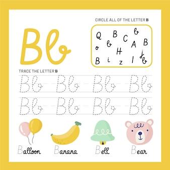 Szablon arkusza litera b
