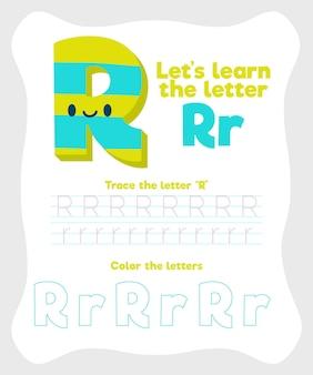 Szablon arkusza z literą r