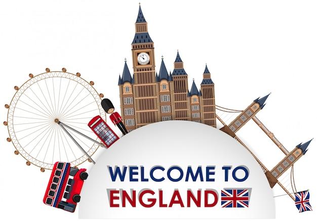 Szablon atrakcji turystycznych londynu
