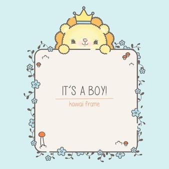 Szablon baby shower dla chłopca premium