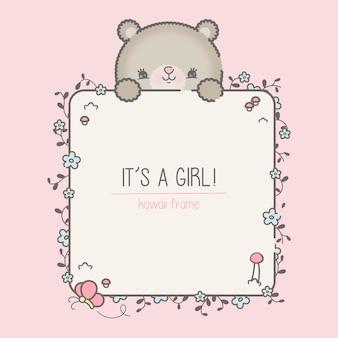 Szablon baby shower dla dziewczynki premium