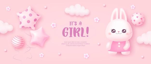 Szablon baby shower dla dziewczynki