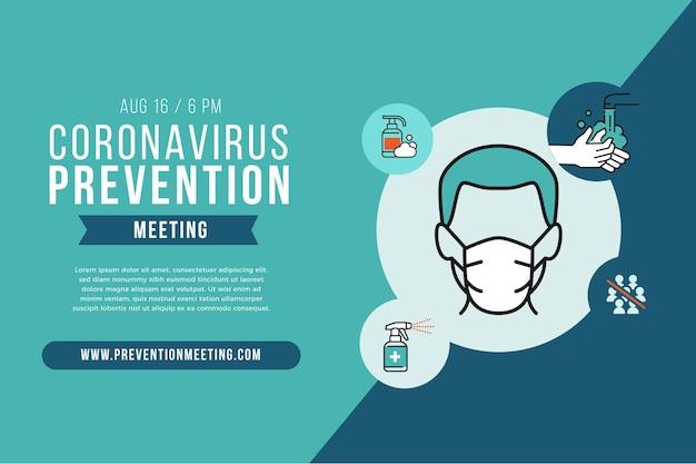 Szablon banera do zapobiegania koronawirusowi