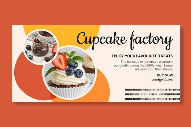 Szablon banera fabryki cukierków