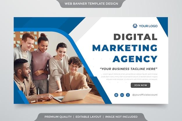 Szablon banera internetowego firmy