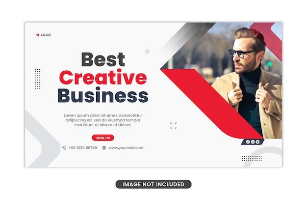Szablon banera internetowego koncepcji biznesowej