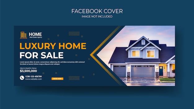 Szablon banera internetowego na okładkę nieruchomości na facebooku