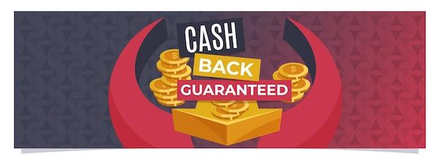 Szablon banera internetowego z gwarancją zwrotu pieniędzy