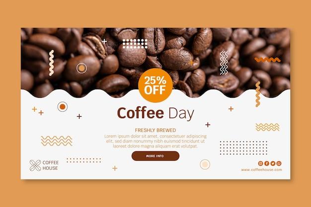 Szablon banera kawiarni