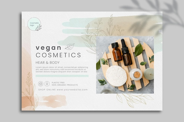 Szablon banera kosmetycznego ze zdjęciem