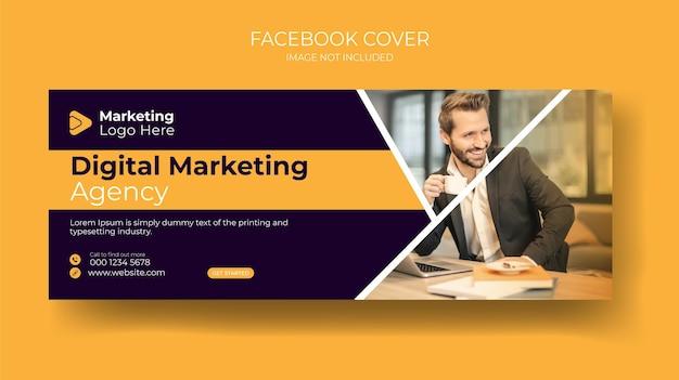 Szablon banera marketingu cyfrowego na facebook