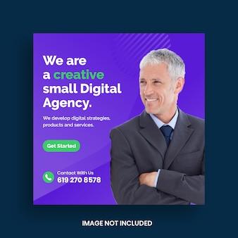 Szablon banera mediów społecznościowych marketingu cyfrowego biznesu