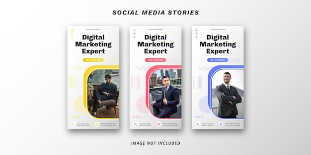 Szablon banera mediów społecznościowych marketingu cyfrowego