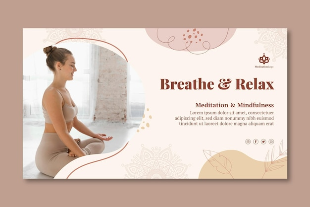 Szablon banera medytacji i uważności