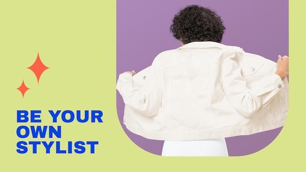 Szablon banera modowego bloga dla kolekcji strojów dla kobiet