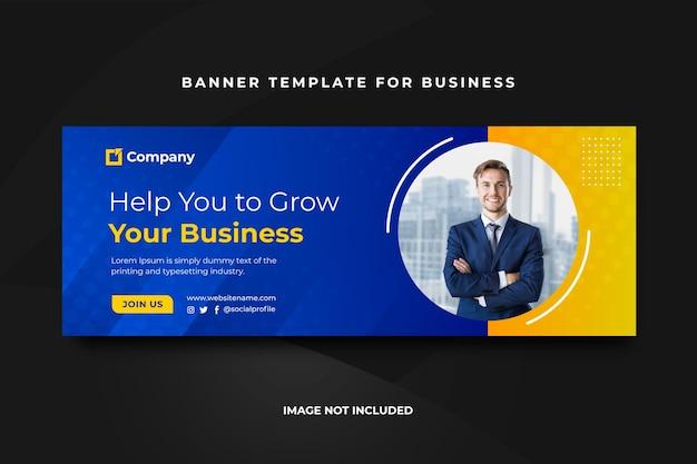 Szablon banera okładki biznesowej