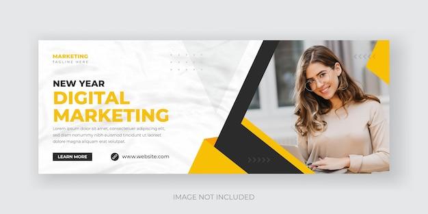 Szablon banera okładki marketingu cyfrowego i korporacyjnych mediów społecznościowych