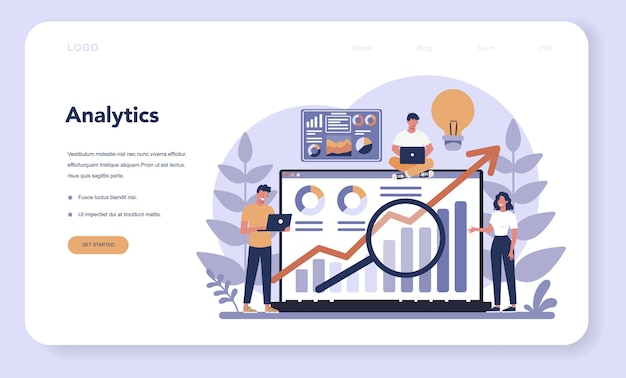 Szablon banera platformy online