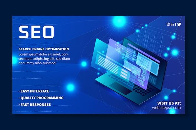 Szablon banera reklamowego seo