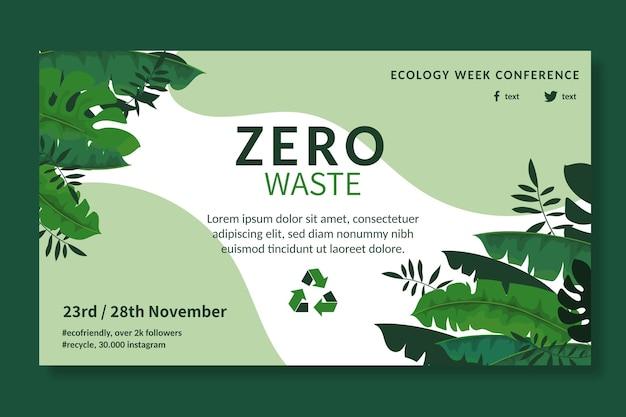 Szablon banera reklamowego zero waste